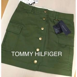 トミーヒルフィガー(TOMMY HILFIGER)のTOMMY HILFIGER♡モスグリーンスカート  新品(ミニスカート)