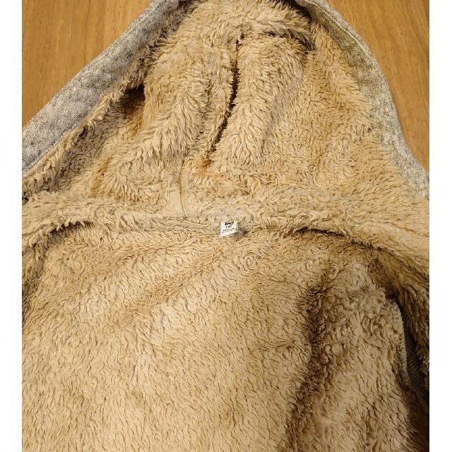 UNIQLO(ユニクロ)のUNIQLO ボアスウェットパーカー 140cm キッズ/ベビー/マタニティのキッズ服男の子用(90cm~)(ジャケット/上着)の商品写真