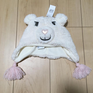 ベビーギャップ(babyGAP)のギャップ ふわふわ帽子 48-50センチ 女の子(帽子)
