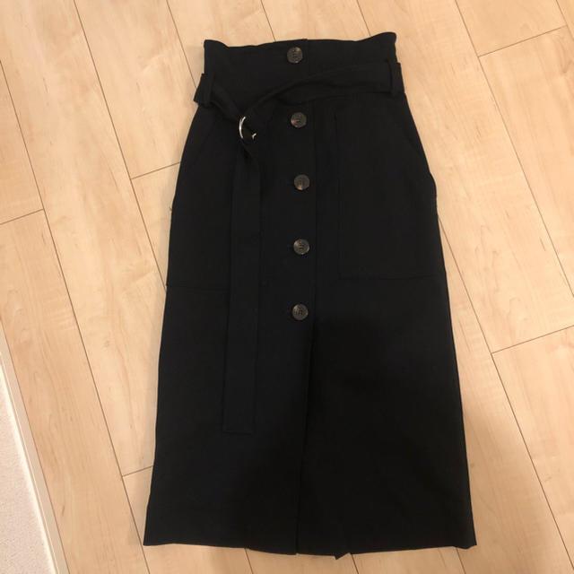 FRAY I.D(フレイアイディー)のFRAY I.D フロントボタンスカート レディースのスカート(ひざ丈スカート)の商品写真