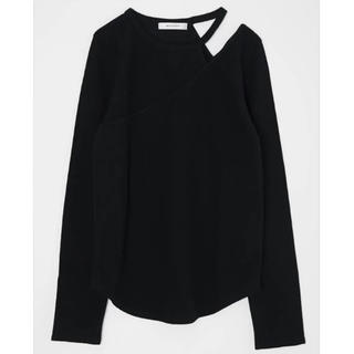 moussy - MOUSSY CUT OUT LAYERED トップス ブラック 未使用