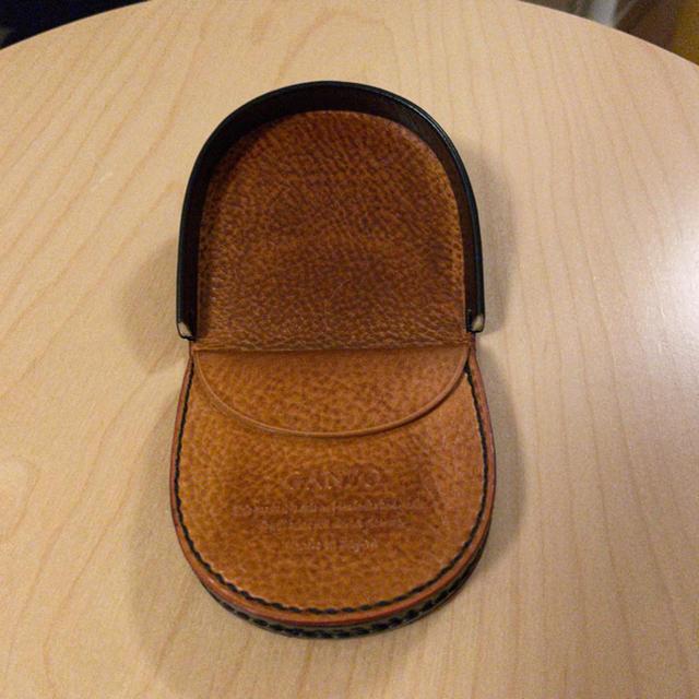 GANZO(ガンゾ)のガンゾ 馬蹄 小銭入れ シンブライドル ネイビー メンズのファッション小物(コインケース/小銭入れ)の商品写真