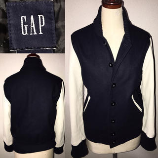 GAP - 美品GAP送料込ギャップ革レザー袖スタジャンジャケットアメカジワークミリタリー系