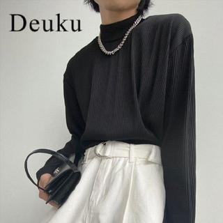 HARE - Deuku プリーツモックネックロンT 韓国