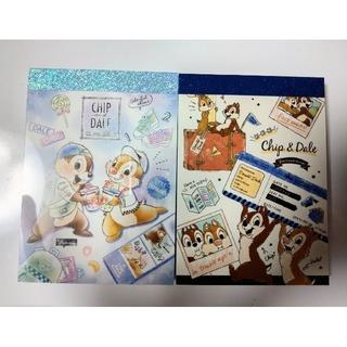 チップアンドデール(チップ&デール)のチップ & デール  メモ帳2冊 ①(ノート/メモ帳/ふせん)