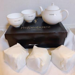 イヴサンローランボーテ(Yves Saint Laurent Beaute)の未使用品☆ イヴ・サンローラン 茶器セット 急須 ティーポット 湯のみ(食器)