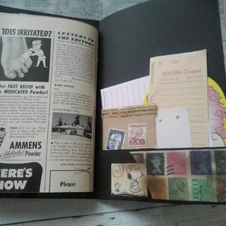 ヴィンテージ ジャンクジャーナル おすそ分けファイル 紙モノ コラージュ