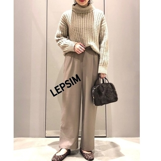 LEPSIM - LEPSIM レプシィム    タートルニット  ワッフル