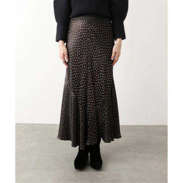 Spick and Span(スピックアンドスパン)のドットジャガードマーメードスカート スピックアンドスパン クリーニング済 レディースのスカート(ロングスカート)の商品写真