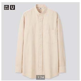 UNIQLO - ユニクロ UNIQLO コーデュロイワイドフィットスタンドカラーシャツ