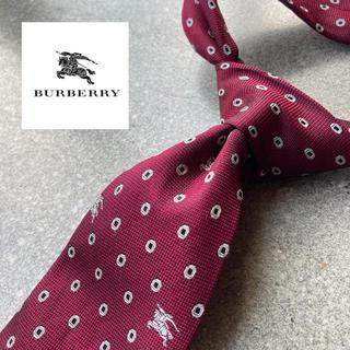 BURBERRY - 【人気モデル】Burberry イタリア製高級シルクネクタイ ホース