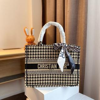 Christian Dior - クリスチャン ディオール キャンバス トートバッグ 千鳥格