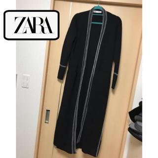 ザラ(ZARA)のZARA 厚手 ロングニットカーディガン 着痩せ効果大 Iライン(ロングコート)