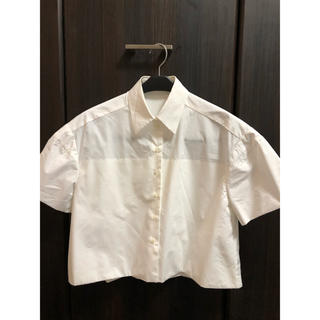 バレンシアガ(Balenciaga)のバレンシアガ 細部にこだわったブラウス 半袖シャツ(シャツ/ブラウス(半袖/袖なし))