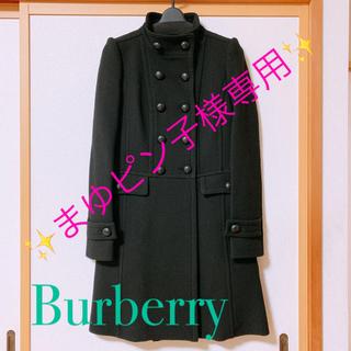 バーバリーブラックレーベル(BURBERRY BLACK LABEL)のBurberry  黒 スタンドカラー コート(ロングコート)