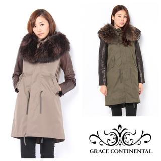 GRACE CONTINENTAL - 最終価格!美品♡フードファーコート ブラウン 38サイズ
