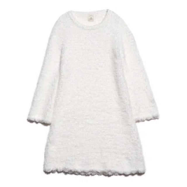 gelato pique(ジェラートピケ)のジェラートピケ スカラップドレス オフホワイト レディースのルームウェア/パジャマ(ルームウェア)の商品写真
