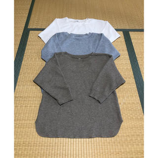 UNIQLO - 値下げ 新品未使用 ユニクロ ワッフルシャツ3枚