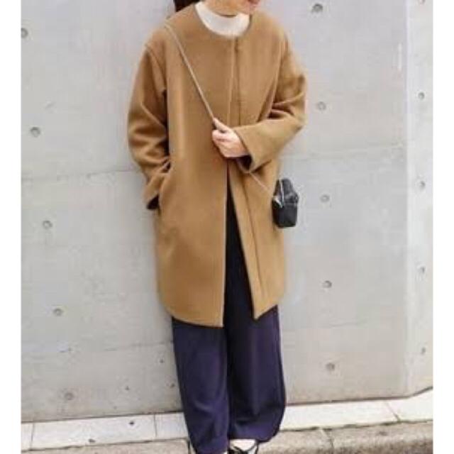 IENA(イエナ)のIENA ノーカラー コート レディースのジャケット/アウター(ロングコート)の商品写真