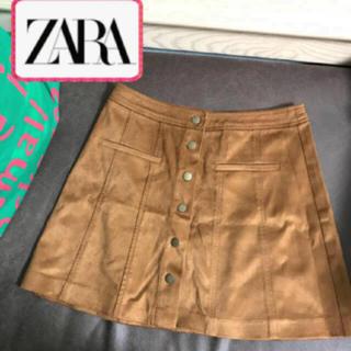 ザラ(ZARA)の未使用 秋冬 ZARA  茶色 スウェード ブラウン ミニスカート(ミニスカート)
