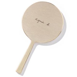 agnes b. - 新品未使用 agnes b.ロゴコンパクトミラー ゴールド