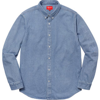 Supreme - 18ss 美品 青 XL supreme denim shirt