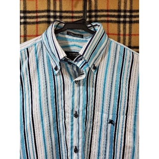バーバリーブラックレーベル(BURBERRY BLACK LABEL)の【人気ブルーストライプ】ドレスシャツ(シャツ)