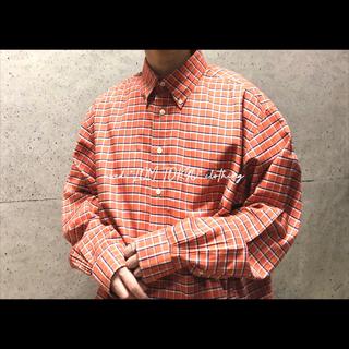 ブルックスブラザーズ brooksbrothers オレンジ チェックシャツ(シャツ)