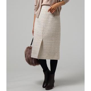 UNTITLED - アンタイトル ツイードスカート サイズ2 新品未使用タグ付き