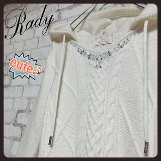 Rady - 【モテ服♪】Rady レディ/ケーブルニットフードワンピース