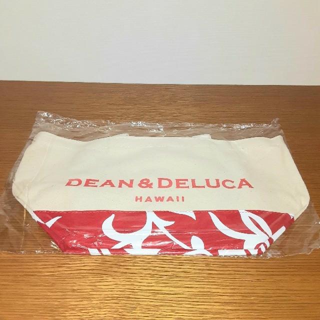 DEAN & DELUCA(ディーンアンドデルーカ)のDEAN&DELUCA トートバッグ HAWAII限定 ハイビスカス柄 人気の赤 レディースのバッグ(トートバッグ)の商品写真