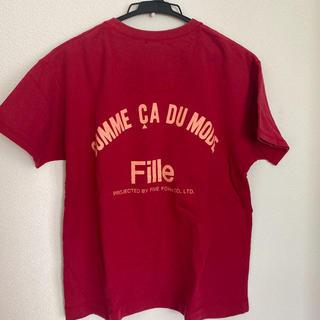 コムサデモード(COMME CA DU MODE)のコムサデモード Tシャツ 赤 160A(Tシャツ(半袖/袖なし))