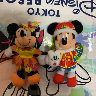 ミニーマウス(ミニーマウス)のミニー ぬいぐるみストラップ(キャラクターグッズ)