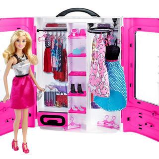 バービー(Barbie)のバービー ピンクのクローゼット セット 人気のクローゼットが新しくなって登場(ぬいぐるみ/人形)