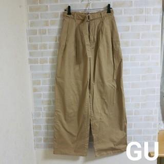 GU - 【本日削除/最終値下げ】GU ベルト付き ワイドパンツ