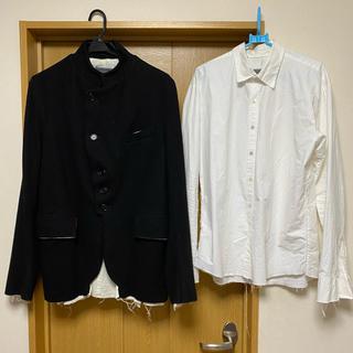 elena dawson スタンドカラージャケット 断ち切りシャツ