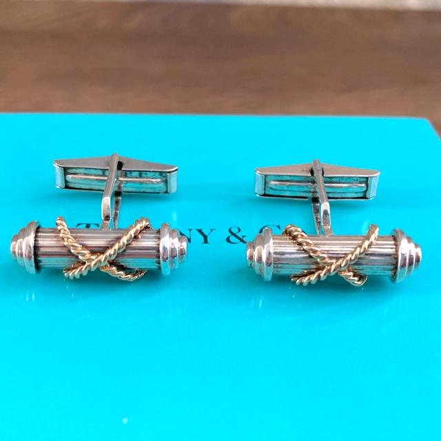 Tiffany & Co.(ティファニー)のティファニー カフス カフリンクス 18K 750巻き メンズのファッション小物(カフリンクス)の商品写真