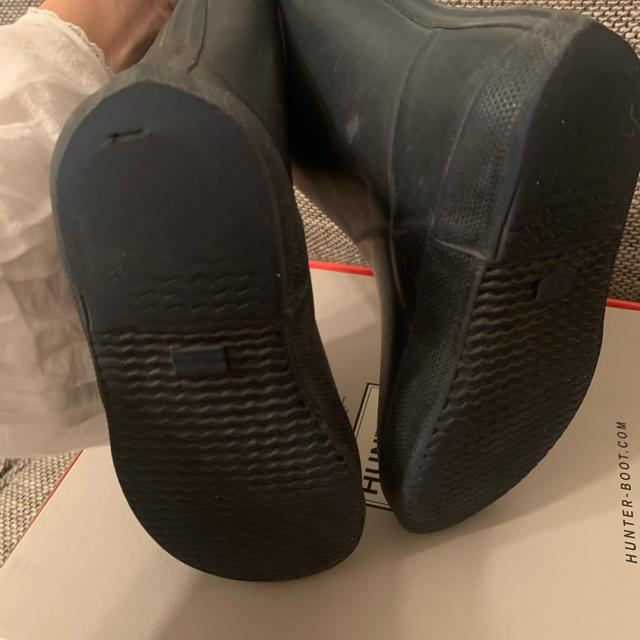 HUNTER(ハンター)のHunter ハンター 長ぐつ レインブーツ キッズ 子供 ネイビー UK12 キッズ/ベビー/マタニティのキッズ靴/シューズ(15cm~)(長靴/レインシューズ)の商品写真