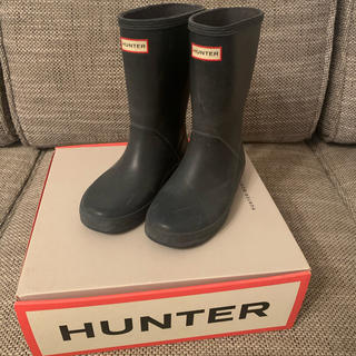 HUNTER - Hunter ハンター 長ぐつ レインブーツ キッズ 子供 ネイビー UK12