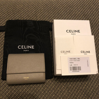 celine - celine セリーヌ ミニウォレット ミニ財布 三つ折り 新ロゴ