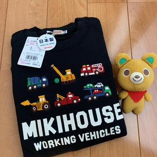 ミキハウス(mikihouse)の9240円★ミキハウス★トレーナー130★日本製★サイドストレッチ黒★(その他)
