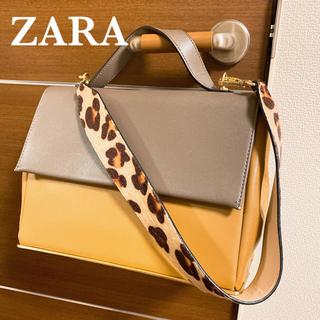 ZARA - 美品★ZARA バイカラーハンドバッグ2wayストラップ
