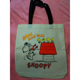 SNOOPY - 白スヌーピーSNOOPYエコバッグ トートバッグ