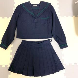 制服 紺色セーラー服 ミニスカート 上下セット(衣装一式)