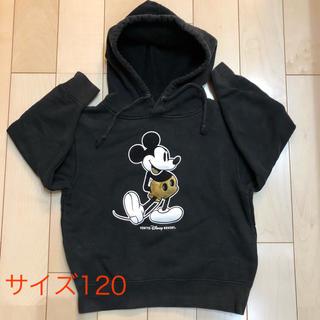 Disney - ミッキー☆裏起毛パーカー サイズ120 フーディー
