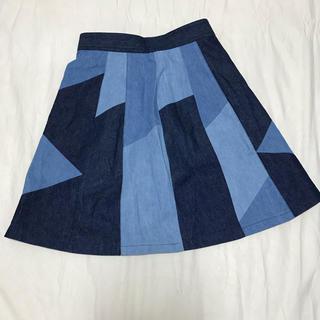 レイビームス(Ray BEAMS)のレイビームス  パッチワークデニムスカート(ミニスカート)