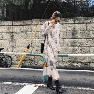 Ameri VINTAGE - AMERI REHEMA KEY NECK DRESS ホワイト