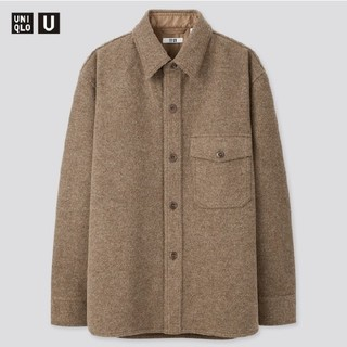 ユニクロ(UNIQLO)のユニクロU フリースシャツジャケット(ブラウン・M)(その他)