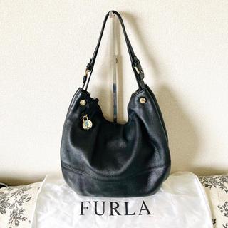 フルラ(Furla)のFURLA 本革バッグ ブラック(ショルダーバッグ)