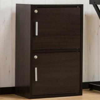 大人気 金庫 収納 収納ボックス 棚 ブラウン 2段